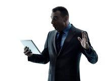 Digitale Tablette des Geschäftsmannes Stockbilder