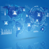 Digitale Technologieinterface Stock Fotografie