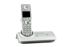 Digitale telefoon VoIP, die op witte achtergrond wordt geïsoleerds stock foto's