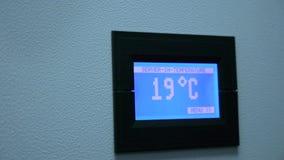Digitale Temperatuurcontrole in de server stock video
