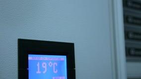 Digitale Temperatuurcontrole in de server stock footage