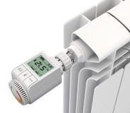 Digitale thermostatische klep Stock Afbeelding