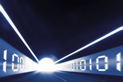 Digitale tunnel stock afbeelding