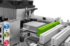 Digitale uitbreiding: motherboard contactdozen Royalty-vrije Stock Foto's