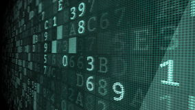 Digitale van de cybermisdaad animatie als achtergrond