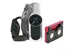 Digitale videocamera met band stock afbeelding