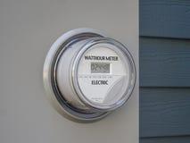 Digitale voeding elektrische meter stock afbeelding