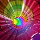 Digitale vorm abstracte tunnel Stock Afbeelding