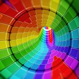 Digitale vorm abstracte tunnel stock foto