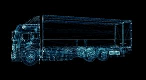 Digitale Vrachtwagen Het concept digitale technologie Royalty-vrije Stock Fotografie