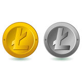 Digitale Währung Litecoin lizenzfreie abbildung