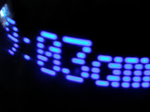 Digitale wekker stock foto's