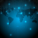 Digitale wereldachtergrond Royalty-vrije Stock Afbeelding