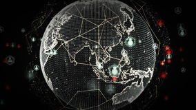 Digitale Wereldnetwerken van Mensenplatina vector illustratie