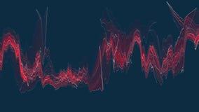 Digitale wilde de verfwolk van het energieneon ROZE zachte bewegende het golven animatie achtergrond nieuwe unieke modieuze kwali stock footage