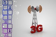digitale zelluläre Telekommunikationstechnik 3G stock abbildung