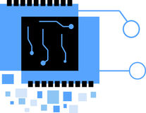 Digitalelektronik Chip Logo Stockfoto