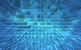 Digitaler abstrakter Hintergrund der blauen Pyramide Lizenzfreie Stockfotografie
