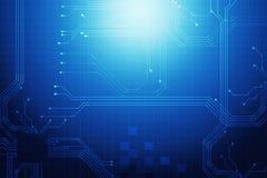 digitaler abstrakter Hintergrund des digitalen dunkelblauen Technologiestromkreises Stockfoto