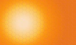 digitaler abstrakter orange Pentagonmusterhintergrund Lizenzfreie Stockfotografie