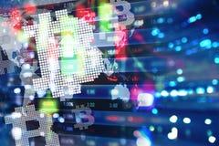 Digitaler Designhintergrund Bitcoin Stockbild