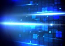 Digitaler High-Techer Konzepthintergrund der abstrakten geometrischen Technologie Lizenzfreie Stockbilder
