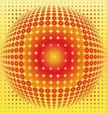 Digitaler Hintergrund der Kugel Stockbild