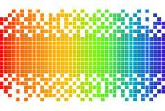 Digitaler Hintergrund des Regenbogens Stockbilder