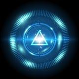 Digitaler Knopf der Dreieckenergie Stockbilder