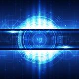 Digitaler Konzepthintergrund der abstrakten zukünftigen Technologie, Vektor Lizenzfreies Stockfoto