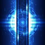 Digitaler Konzepthintergrund der abstrakten zukünftigen Technologie, Vektor Lizenzfreie Stockbilder