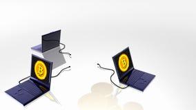 Digitaler Währungsbergbau Bitcoin stock video