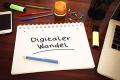 Digitaler Wandel vector illustratie