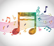Digitales Design der Musik Stockbild