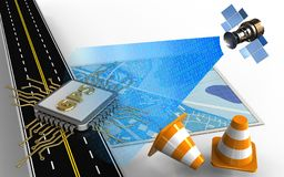 digitales Satellitensignal 3d Lizenzfreie Stockfotografie