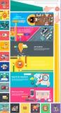Digitales seo Planung srartup Marketing des Managements Lizenzfreie Stockfotografie