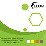 Digitales Thema des Grüns und des eco für CD und Bucheinband vektor abbildung