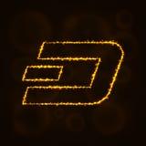 Digitales Währungsschattenbild der Schlagmünze von Lichtern Lizenzfreie Stockfotografie