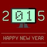 Digitales Zeitalter des neuen Jahr-2015 Lizenzfreie Stockbilder