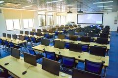 Digitales zukünftiges Klassenzimmer der Klugheit Stockbilder