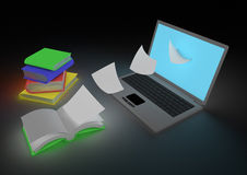Digitalisierung des Buchkonzeptes Stockfotografie