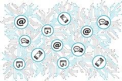 Digitalization and mobile communication concept - illustration vector illustration