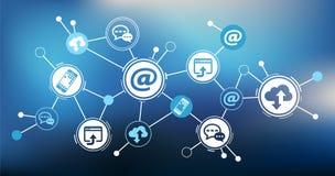 Digitalization and mobile communication concept - illustration royalty free illustration