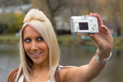 Digitalkamera-Spaß Lizenzfreies Stockbild