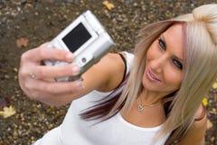 Digitalkamera-Spaß Stockfoto