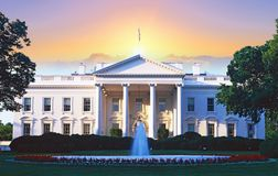 Digitally altered composite view of the White House Stock Photography