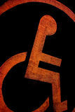 Digitally altered disability motif. Of a person in a wheelchair Stock Photos