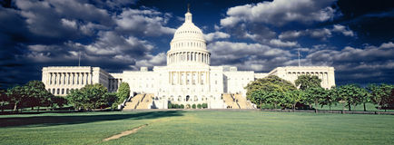 Digitally altered, high contrast image of the U.S. Capitol Stock Photography