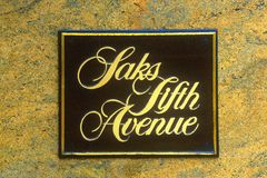 Digitally altered image of Saks Fifth Avenue sign Stock Photo