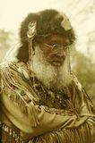 Digitally altered image of 19th century mountain man in full costume, Waterloo, NJ Stock Photos